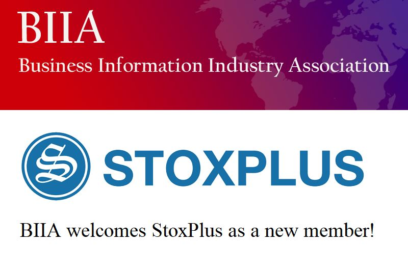 "StoxPlus joins as full member of Business Information International Association (""BIIA"") from 15 March 2018"